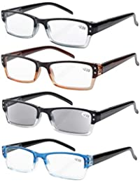 Eyekepper Lettori di occhiali di qualità cerniera a molla tempie lettura Gunmetal +3.0 2oQ7XQS