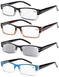 Eyekepper Lettori di occhiali di qualità cerniera a molla tempie lettura Gunmetal +3.0
