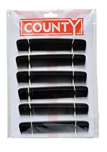 Pack of 12 Plastic Gents Mens Hair Combs