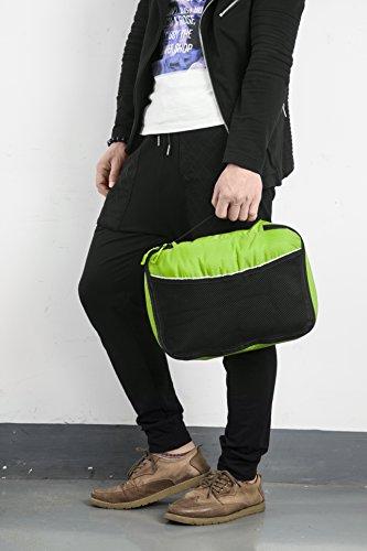 Packwürfel Kleidertaschen Packing cubes Koffertaschen für angenehmes Reisen und aufgeräumte Koffer -Große und mittelgroße Taschen zum Schutz und zur Komprimierung von vielen Kleidungsstücken, Schuhen  Large-Green