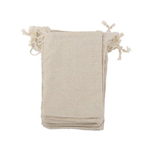 luoem Taschen Taschen Jute Leinen mit Kordelzug Beutel Geschenk Hochzeit Partei zugunsten Tasche 10Stück (Für Hochzeit Taschen Zugunsten)