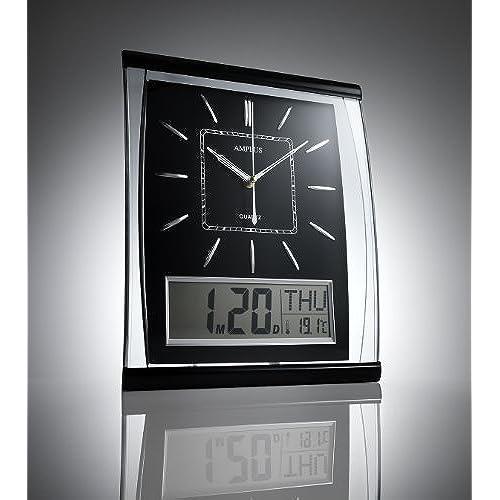 Digital Office Wall Clocks Digital. KG Homewares Silent Wall Clock Digital  Large Jumbo Display Black