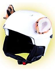 Crazy Ears Helm-Accessoires Biene Teddy Maus Katze. Ski-Ohren geeignet für Skihelm Motorradhelm Fahrradhelm und vieles mehr. Helm Dekoration für Kinder und Erwachsene