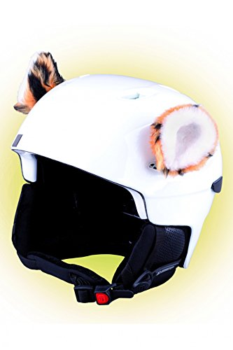 Crazy Ears Helm-Accessoires Biene Teddy Maus Katze. Ski-Ohren geeignet für Skihelm Motorradhelm Fahrradhelm und vieles mehr. Helm Dekoration für Kinder und Erwachsene, CrazyEars:Tiger Ohren 2