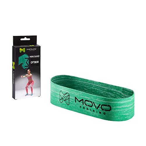 MOVO Mini Band Optimum | 30 x 5 cm | Fitness-Band Kurz | Latexfrei | Für stabile Muskulatur | aus Textil Material | Widerstandsband für Krafttraining | Waschmaschinenfest | Für Profis und Amateure