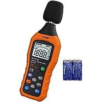 Sonómetro,VLike PT02 LCD Medidor Digital de nivel de ruido Decibel - Sonido Audio Monitor medidor db medición de 30 dB a 130 dB registrador probador