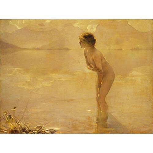 Chabas September Morn Nude Painting Art Print Canvas Premium Wall Decor Poster Mural Malerei Wand Deko - Art Print Canvas
