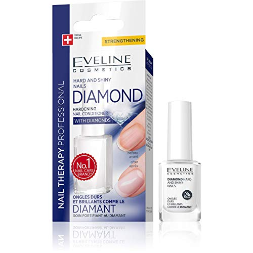 Eveline Hard and Shiny Nails Nail Strengthener With Diamonds -
