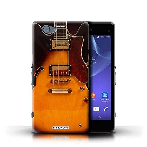 Kobalt® Imprimé Etui / Coque pour Sony Xperia A2 / Rouge Electrique conception / Série Guitare Electro Acoustique