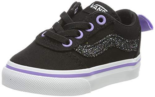 Vans Ward Slip-on Canvas, Sneaker Unisex-Bimbi, Nero ((Glitter) Black L8h), 20 EU