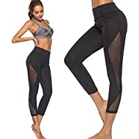 Leggins Mujer Pantalones Yoga Mujeres, Yusealia Cintura Alta Sólido Leggins Fitness Pantalones DE Color Sólido Cadera Hueca Moda Empalmada Pantalones De Correr Flaco EláSticos Leggings