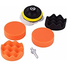 SHINA 7PCS 3 pulgadas Buff pulido Esponja de pulido Pad Kit para el coche Pulidora Buffer # 02