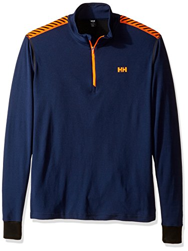 Helly Hansen Herren Funktionsunterwäsche HH Active Flow 1/2 Zip Evening Blue/Neon Orange