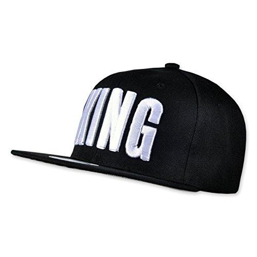 Jewelz&Diamondz Unisex Snapback Cap Kappe Cappy Baseball Cap Schirm Mütze KING one size verstellbar
