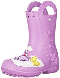 ac223d305c5 Crocs Crocsfl Butterfly Rain Boot K Bottes   Bottines de Pluie Mixte Enfant