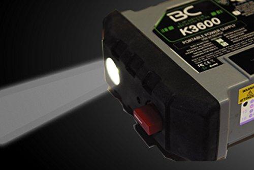 41l5pDkKVaL - BC Booster K3600-12V 1200A - Arrancador de Emergencia para Coche y Moto + Batería Portátil con USB 20000 mAh para Smartphones y Tabletas + Antorcha LED SOS