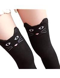 b96ac3102ba Nvfshreu Dames Hiver Chat Au Genou Panda Tricoté Botte Longue Cuisse Simple  Style Chaussettes Hautes Et