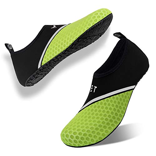 Badeschuhe Strandschuhe Wasserschuhe Aquaschuhe Schwimmschuhe Surfschuhe Wassersport Beach Pool Surfen Yoga für Damen Herren, Xb.bright Green, 41/42 EU (Asian: 42/43)