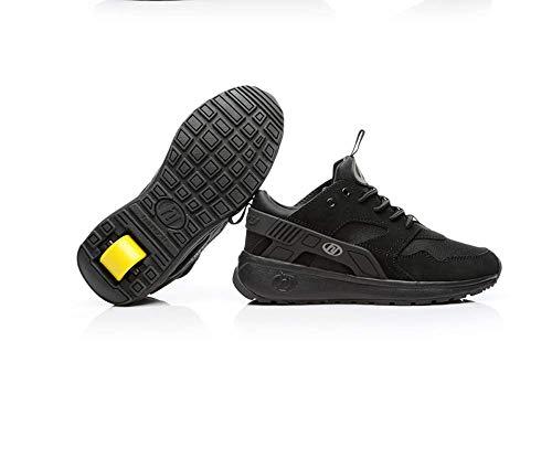 SNOWWOLF Mode Verformung Schuhe Einzelne Runde Rollschuhe Skates Erwachsene Angriff Schuhe Sportschuhe,A,44 -