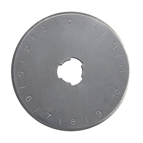 SBS Ersatzklingen für Rollschneider ø 45mm 15 Stück Rollmesser Rundklingen Rotary Cutter Rollcutter