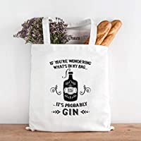 Gin Lovers Gift - Probably Gin Cotton Shopping Bag