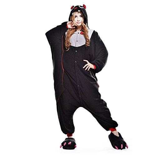 Free Fisher Damen/ Herren Schlafanzug Pyjama, Tier Kostüm, Fledermaus, Gr. M (Körpergröße 160-169 CM) (Damen Fledermaus Kostüme)