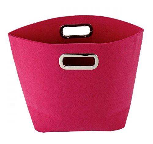 Filztasche mit Griff, pink (Kaminholztasche, Filzkorb, Zeitungskorb)