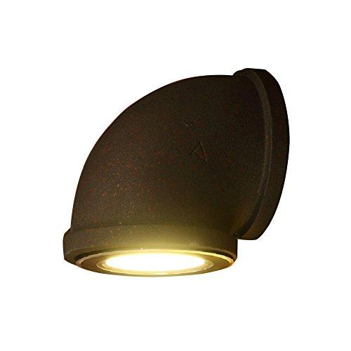 Lámparas de Pared Industriales del Tubo de Agua del Vintage,AZXES,3W LED Luz de Pared,Led Apliques De Pared Interior?Luz Decoración para Dormitorio, Salon, Comedor Jardín