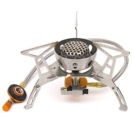 Gas stove Tragbarer Camping-Gasherd Mini, 3500 Watt Winddichter Backpacking-Herd Mit Piezo-Zündung Outdoor-Herd-Brenner -