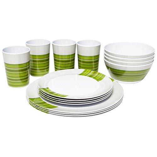 Outwell Blossom Picknick Set - 4 Pack Kochen Essen Ausrüstung Eine Farbe, Grün, Einheitsgröße