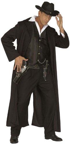 Widmann 44473 - Erwachsenenkostüm Bounty Killer, Mantel und Weste, Größe (Kostüm Cowboy Männer Für)