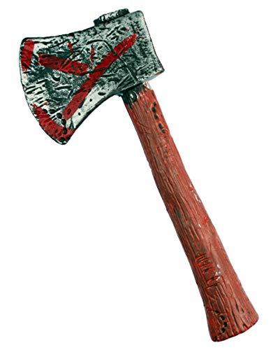 Horror-Shop Zombie Hunter Axt als Spielzeugwaffe & Kostümzubehör (Jäger Zombie Zubehör Kostüm)