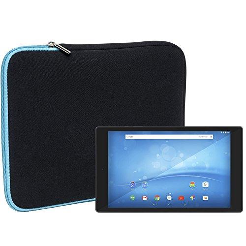 Slabo Tablet Tasche Schutzhülle für TrekStor SurfTab wintron 10.1 Pure/TrekStor SurfTab Breeze 9.6 Quad Hülle Etui Case Phablet aus Neopren – TÜRKIS/SCHWARZ