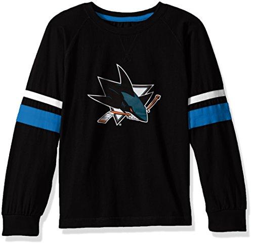 Profile Big & Tall NHL San Jose Sharks lang Arm Sleeve Tee mit doppelter Arm Streifen, klein, schwarz (Shirt Sleeve Sh)