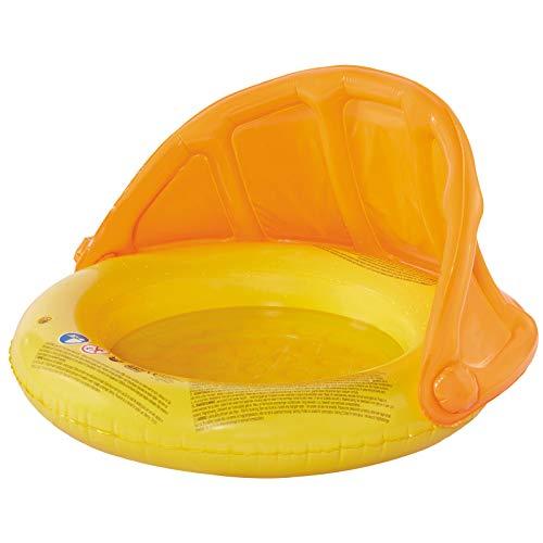 Babypool mit Sonnendach 85 cm Baby Schwimmen Kinderpool Wasser Wasserspielzeug Sitz Pool aufblasbar Wasserspass Badeinsel Sonnenschutz Planschbecken Spielzeug Kinderbadespass Schwimmbecken Badepool