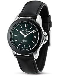 Philip Watch R8251194025 - Reloj analógico de cuarzo para mujer con correa de piel, color negro
