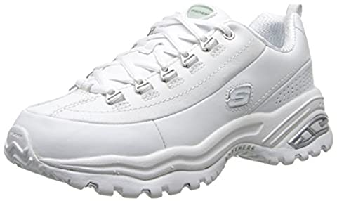 Skechers Premium Womens White Athletic Sneakers Shoes Size UK 5