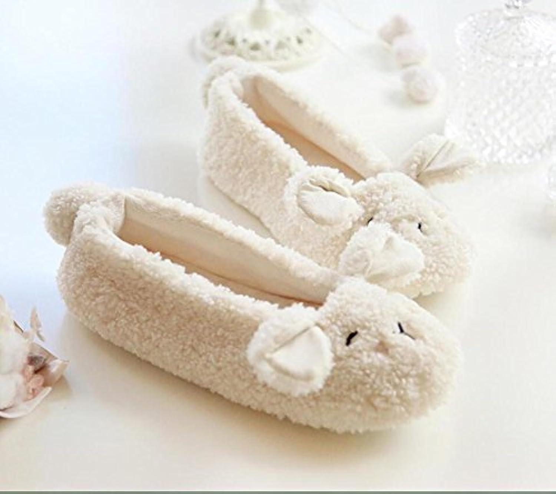 Cordero con cálido hogar zapatos calzado cerrado antideslizante , 36-37