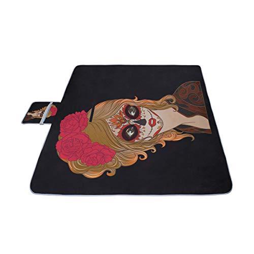 AGIRL Porträt eines schönen Mädchens Tod Picknick-Matte 57