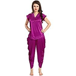 AV2 Women Satin Top & Pyjama Set
