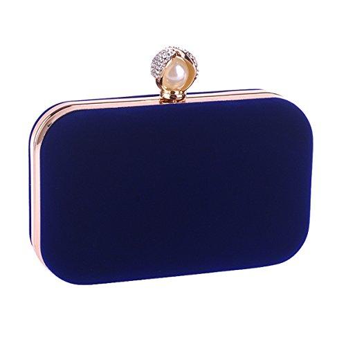 Flada, Poschette giorno donna Rosa Rosy medium Blue