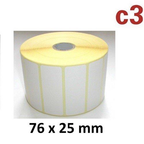76x25 mm ThermoEtiketten Rolle mit 2.580 Etiketten Zebra ,Citizen,Intermec, TEC