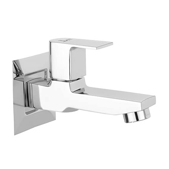 TNL Icon Long Body tap Bath Long Nose tap Quarter Turn Brass Bib Cock C.P Fittings Bib Tap Bathroom Tap Washing Tap Kitchen Tap (Chrome Finish)