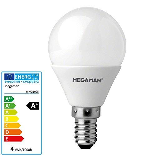 Megaman LED E14 Tropfenform 3.5W = 25W Warmweiß (Ø x L) 45mm x 84mm EEK: A+ 1St.