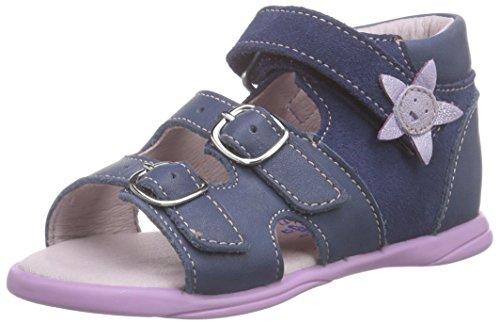 Däumling Benny, Sandales premiers pas bébé fille Bleu - Blau (Fortuna jeans42)