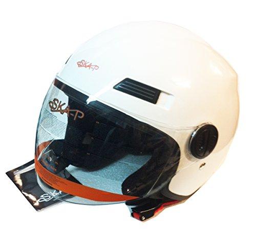 Preisvergleich Produktbild Helm Jet 1LH Urban Forever Young ska-p weiß Größe M