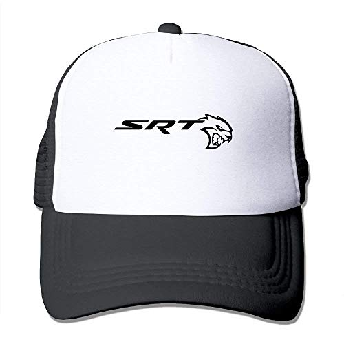 SRT-Dodge Challenger Logo Adult Grid Baseball Caps Unisex Sunshade Hat Mesh Hat Snapback Cap JH3965