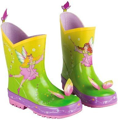 Preisvergleich Produktbild Unbekannt 3-D Gummistiefel Naturkautschuk - Fee - Gr. 21 - für Kinder Regenstiefel / Matschstiefel Stiefel Fee Elfe Prinzessin Blumenfee