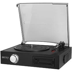 Camry CR1154 Tocadiscos con cassette negro