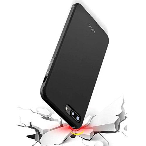 UKDANDANWEI iPhone 7 Plus Coque,Tpu Silicone Gel Étui Housse Protection Shell Case Cover Pour iPhone 7 Plus Bleu dragon Noir